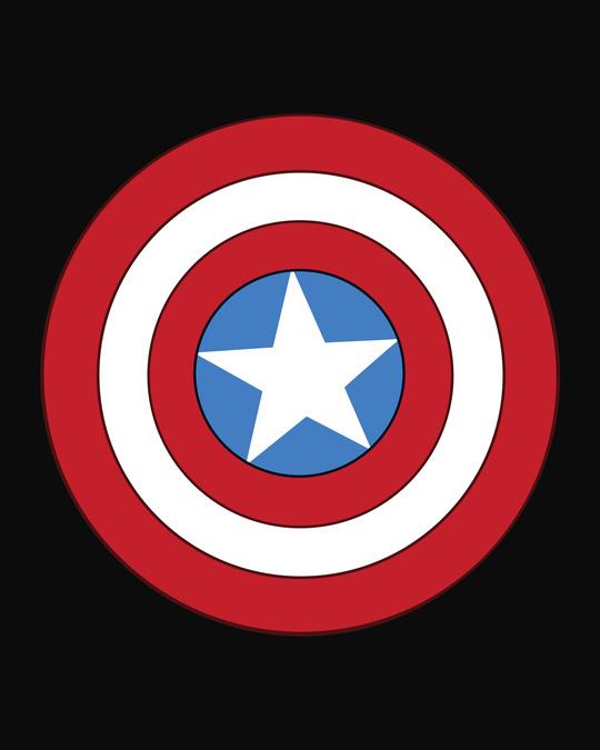 Shop Captain America Hyper Print Joggers (DL) Black