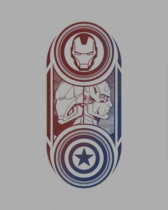 Shop Captain America Iron Man Full Sleeve T-Shirt (AVL)-Full