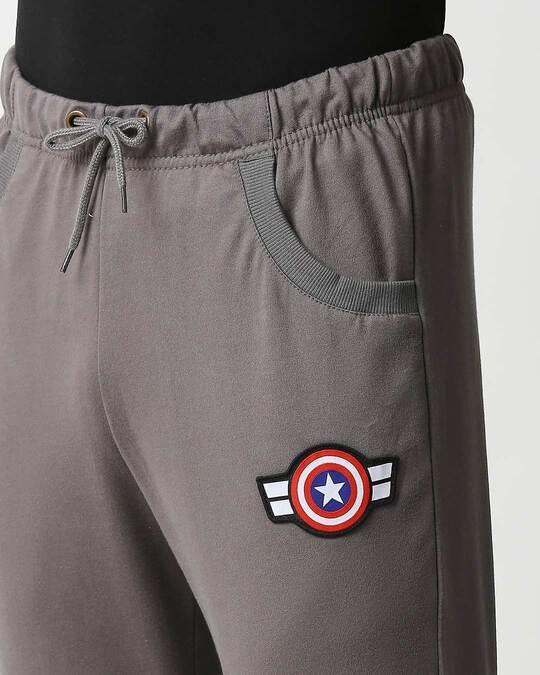 Shop Captain America Moss Green Badge Joggers