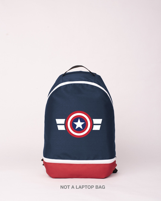 Shop Captain America Printed Small Backpack (AVL)-Front