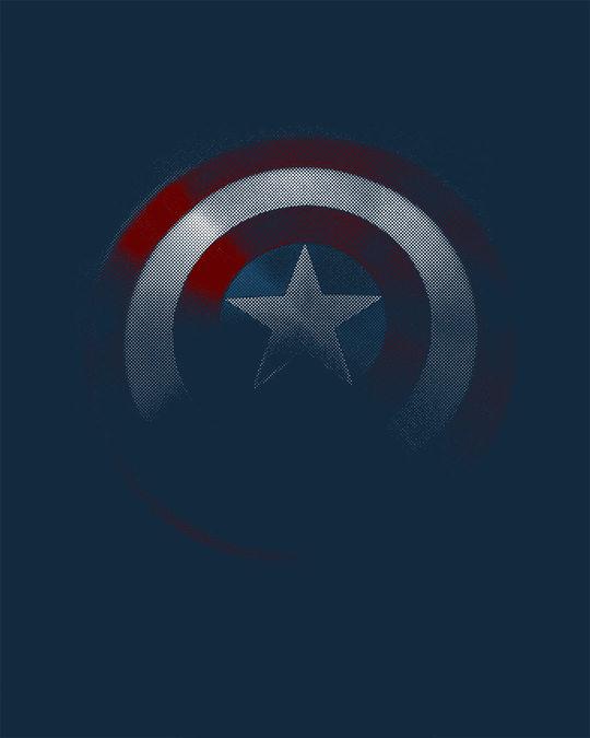 Shop Captain America Shadows Boyfriend T-Shirt (AVL)