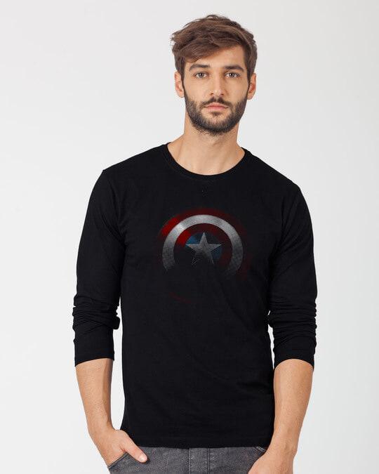Shop Captain America Shadows Full Sleeve T-Shirt (AVL)-Front