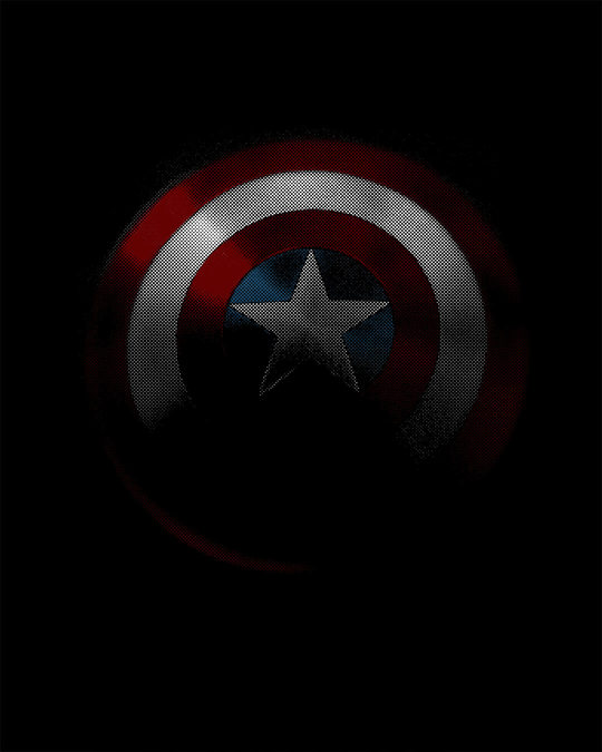 Shop Captain America Shadows Full Sleeve T-Shirt (AVL)