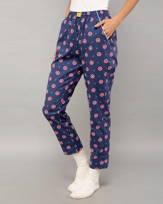 Shop Captain America Shield All Over Printed Pyjama (AVL)-Back