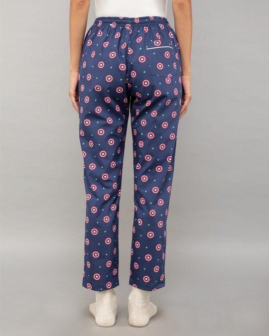 Shop Captain America Shield All Over Printed Pyjama (AVL)-Design