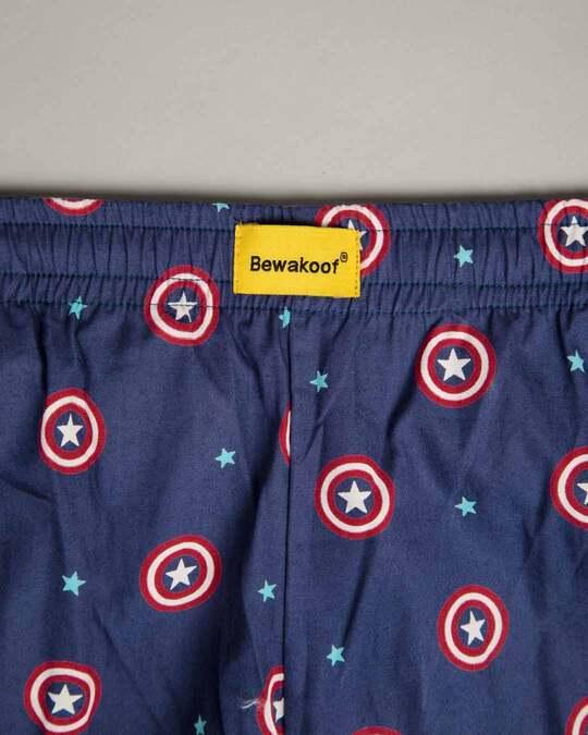 Shop Captain America Shield Poplin Pyjama (AVL)