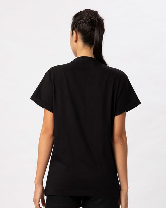 Shop Captain America Shield Version 2 Boyfriend T-Shirt (AVL)-Back