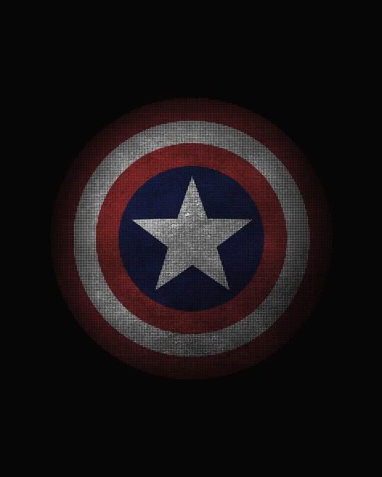 Shop Captain America Shield Version 2 Fleece Light Sweatshirt-Full