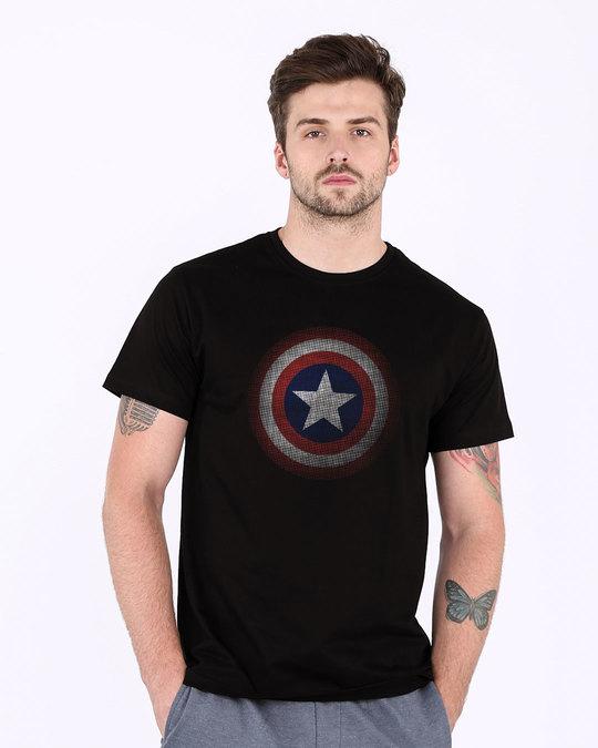 Shop Captain America Shield Version 2 Half Sleeve T-Shirt (AVL)-Back