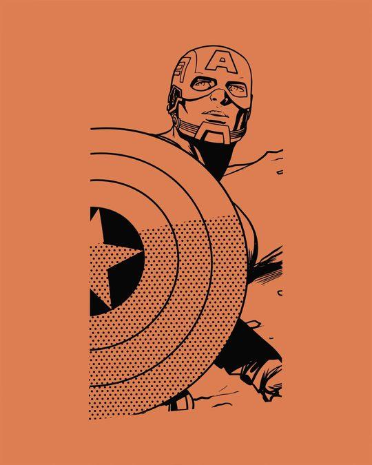 Shop Captain America Sketch Effect Vest (AVL)