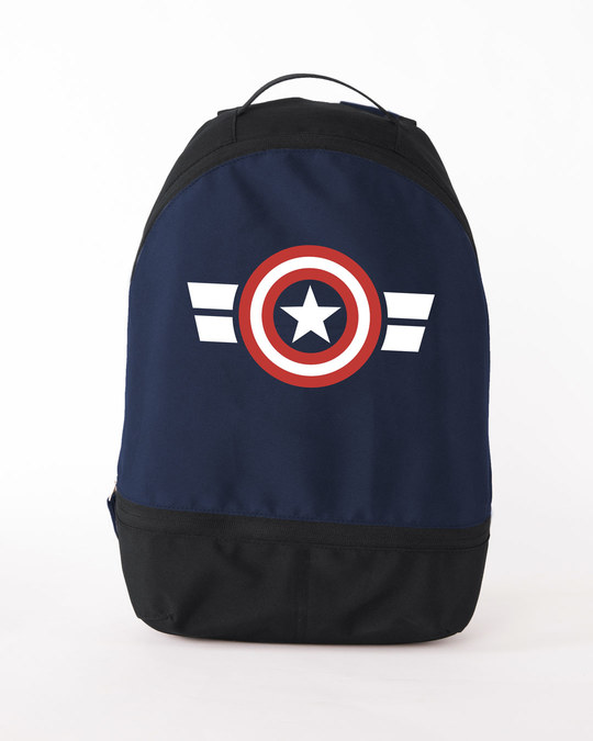 Shop Captain America Stripes Essential Mini Backpack (AVL)-Front
