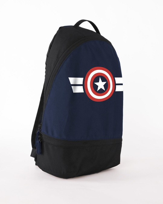Shop Captain America Stripes Essential Mini Backpack (AVL)-Back