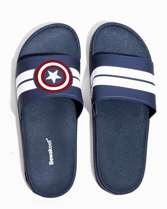 Shop Captain America Stripes Sliders (AVL)-Front
