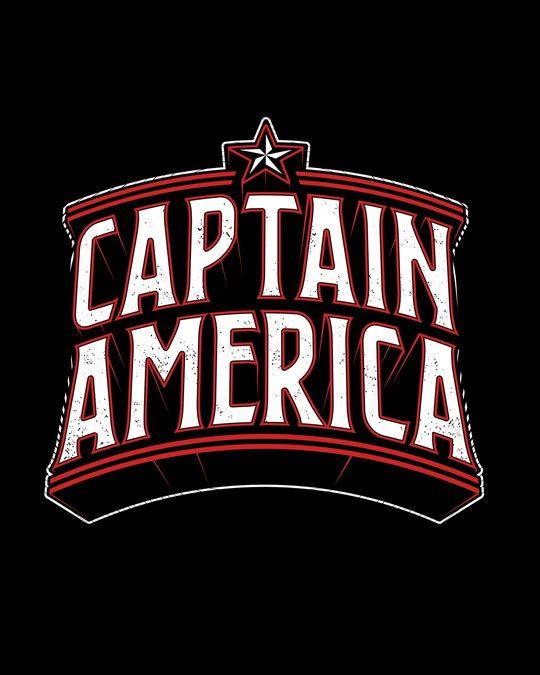 Shop Captain America Typo Boyfriend T-Shirt (AVL)