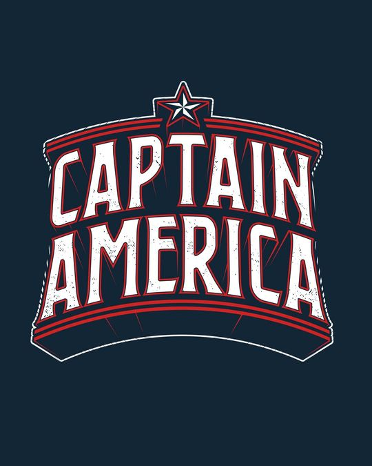 Shop Captain America Typo Half Sleeve T-Shirt (AVL)