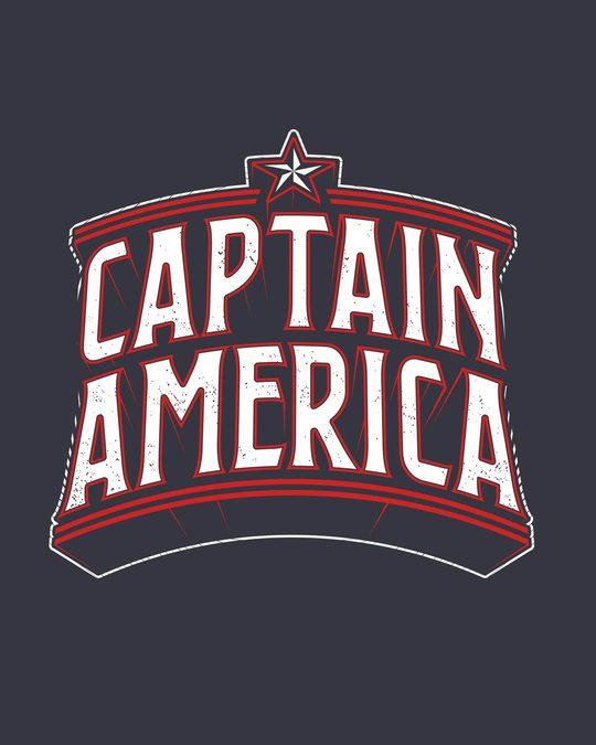 Shop Captain America Typo Half Sleeve T-Shirt (AVL)