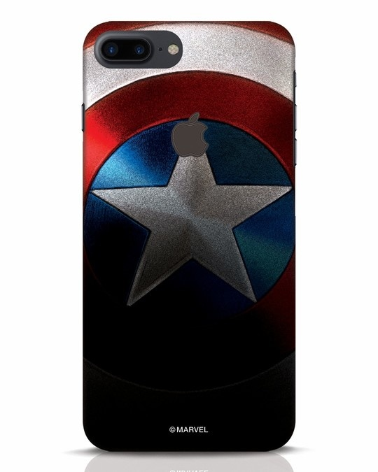 Shop Captain iPhone 7 Plus Logo Cut Mobile Cover-Front