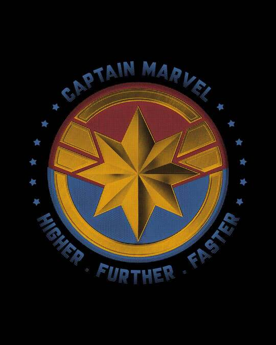 Shop Captain Marvel Logo 3/4th Sleeve T-Shirt (AVEGL)