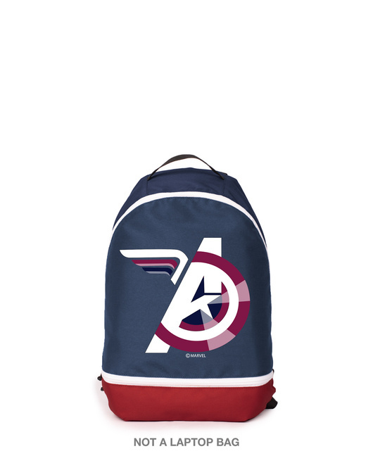 Shop Captain Shield Logo (AVL) Small Backpack Blue-Red-Front