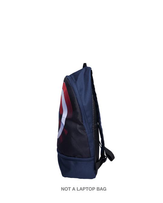 Shop Captain Shield Realistic Printed Mini Small Backpacks (AVL) Navy Blue-Back