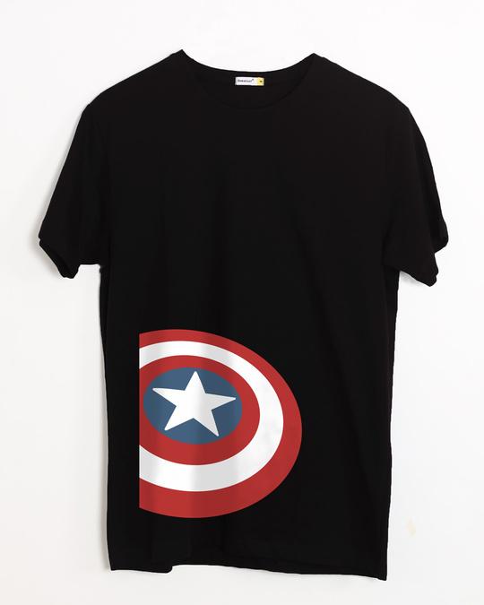 Shop Captain Side Shield Half Sleeve T-Shirt (AVL)-Front