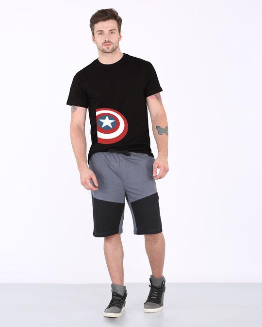 Shop Captain Side Shield Half Sleeve T-Shirt (AVL)