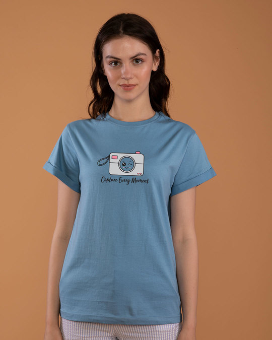 Shop Capture Moment Boyfriend T-Shirt-Front