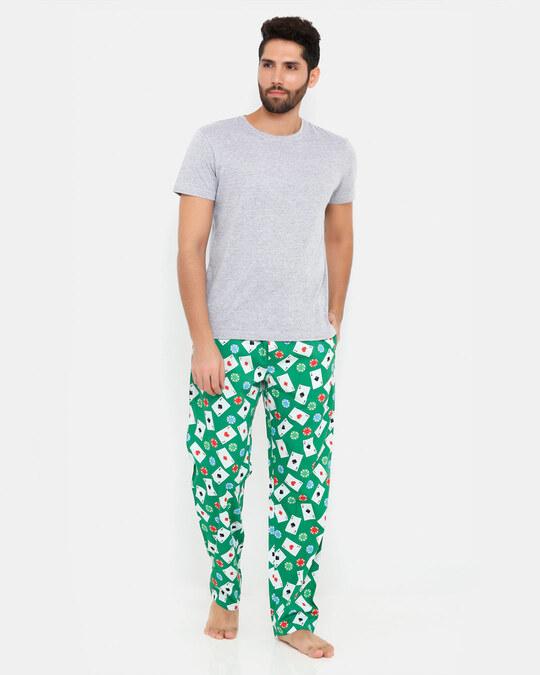Shop Smugglerz Cards & Casino Chips Pyjamas Green-Full