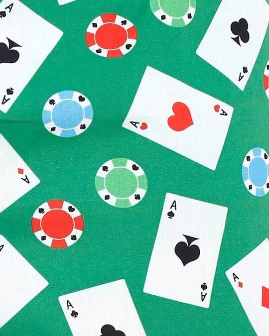 Shop Smugglerz Cards & Casino Chips Pyjamas Green