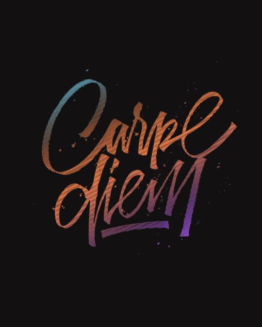 Shop Carpe Diem Colorful Scoop Neck Full Sleeve T-Shirt-Full