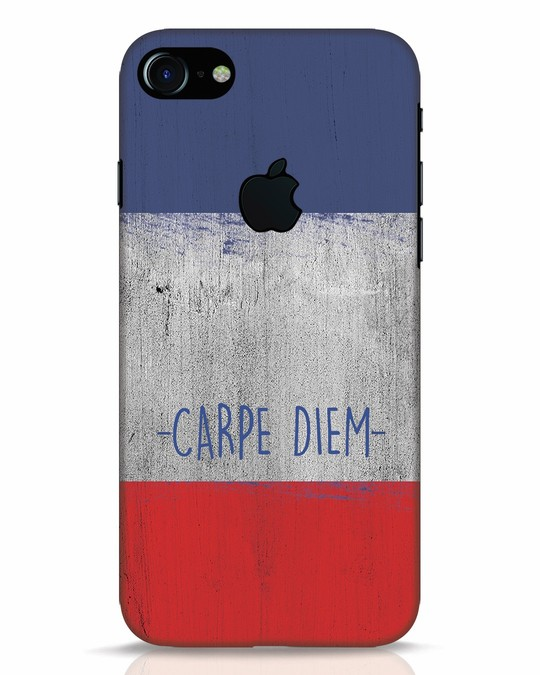 Shop Carpe Diem iPhone 7 Logo Cut Mobile Cover-Front