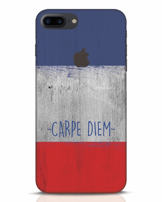 Shop Carpe Diem iPhone 7 Plus Logo Cut Mobile Cover-Front