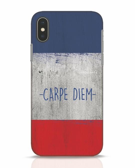 Shop Carpe Diem iPhone X Mobile Cover-Front