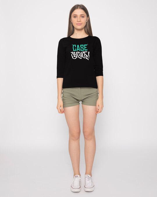 Shop Case Kheyeche Round Neck 3/4th Sleeve T-Shirt