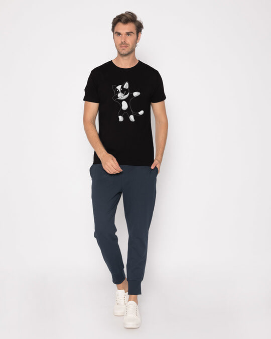 Shop Cat Dabbing Half Sleeve T-Shirt