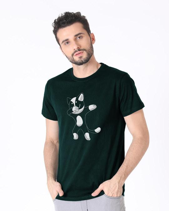 Shop Cat Dabbing Half Sleeve T-Shirt-Design