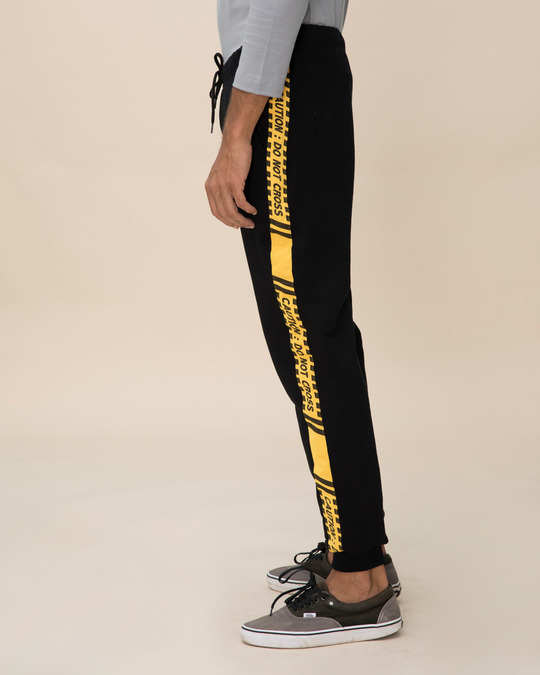 Shop Caution Fleece Sports Trim Joggers-Back