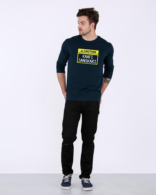 Shop Caution Kaafi Sanskari Full Sleeve T-Shirt