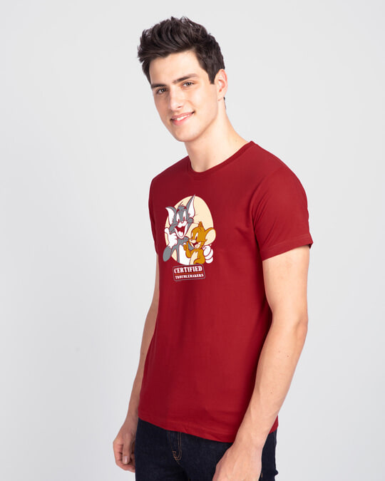 Shop Certified Troublemakers Half Sleeve T-Shirt-Back