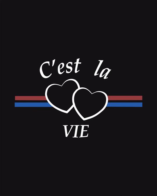 Shop Cest'la Vie-paris Half Sleeve T-Shirt-Full