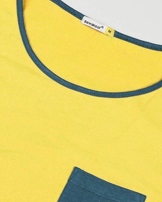 Shop Ceylon Yellow Contrast Binding Pocket Vest