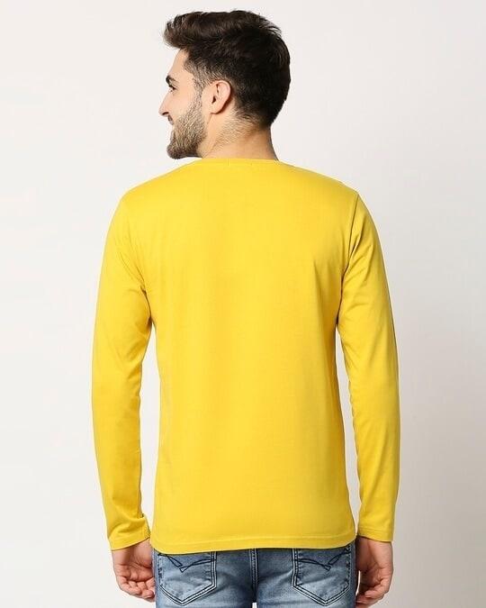 Shop Ceylon Yellow Full Sleeve T-shirt-Full