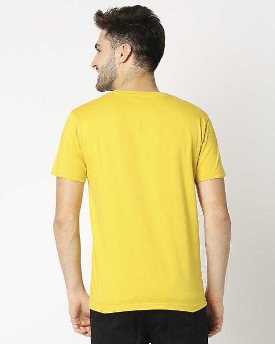 Shop Ceylon Yellow Half Sleeve T-Shirt-Full