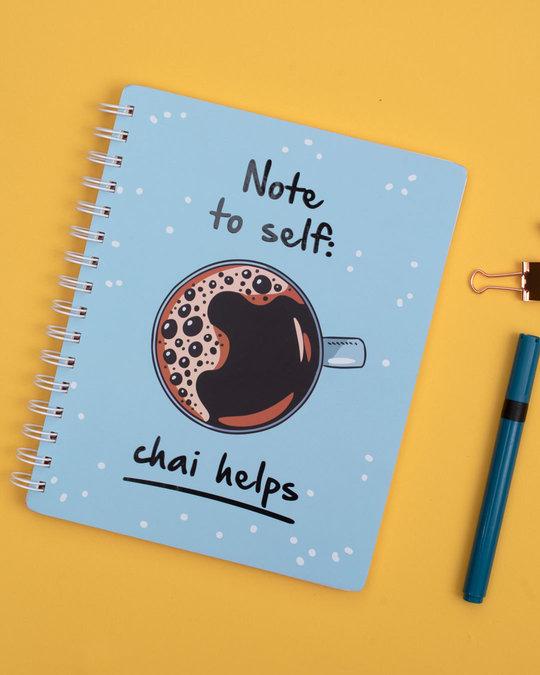 Shop Chai Helps Spiral Notebook