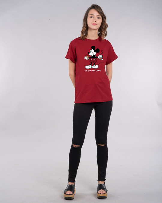 Shop Chai Lover Mickey Boyfriend T-Shirt (DL)-Full