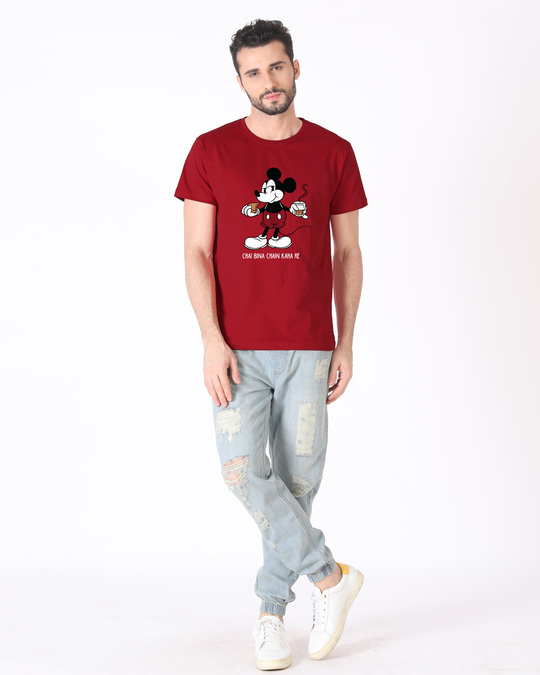 Shop Chai Lover Mickey Half Sleeve T-Shirt (DL)-Design