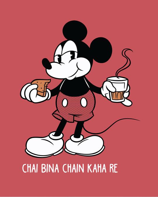 Shop Chai Lover Mickey Half Sleeve T-Shirt (DL)-Full