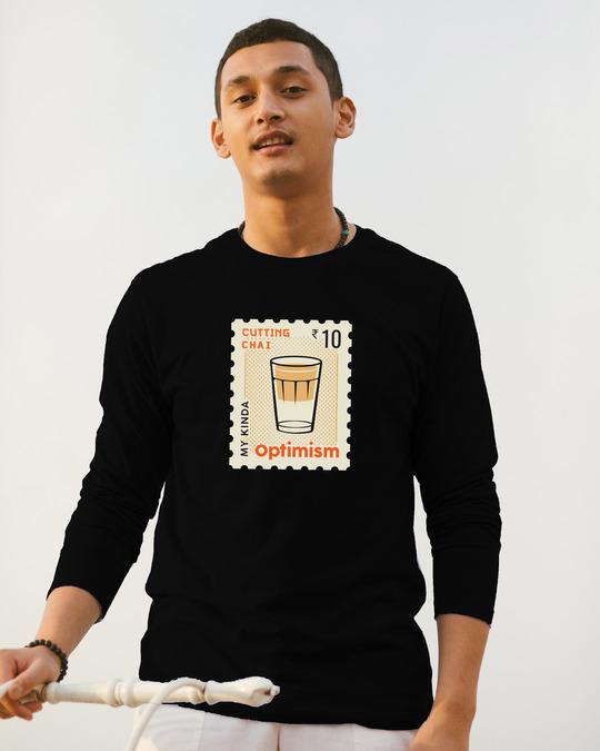 Shop Chai Optimism Men's Printed Full Sleeve T-Shirt-Front