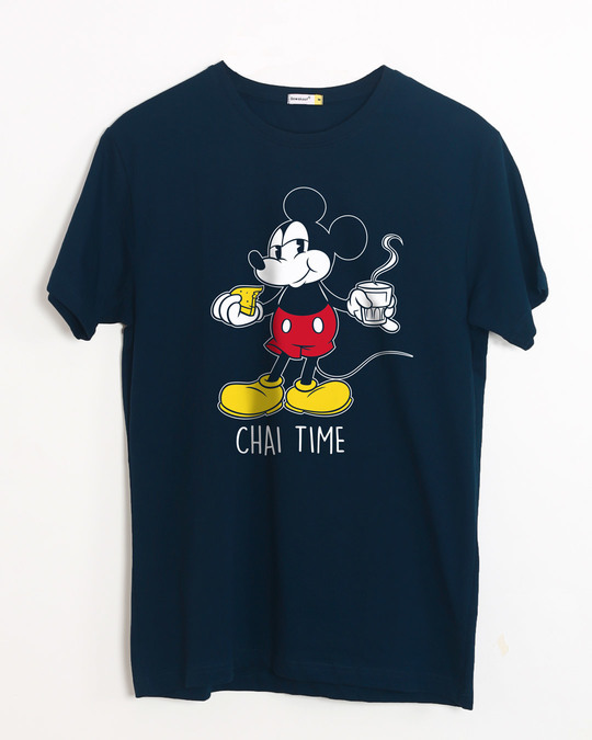 Shop Chai Time Mickey Half Sleeve T-Shirt (DL)-Front