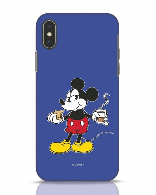 Shop Chai Time Mickey iPhone X Mobile Cover (DL)-Front